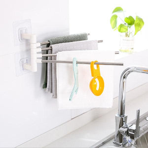 Non-perforated Multi-function Towel Rack
