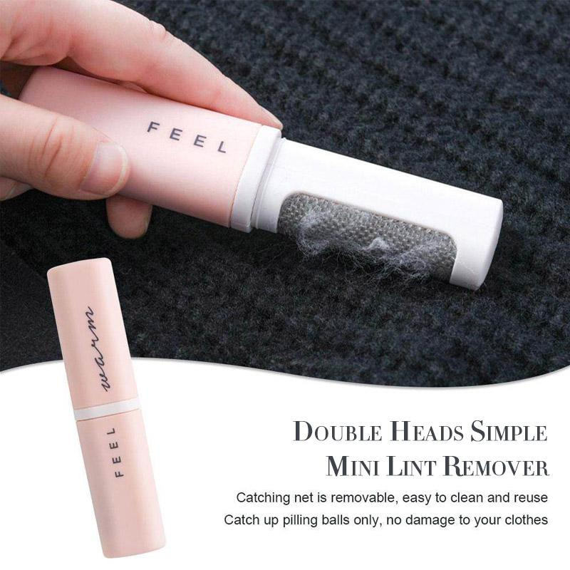 Double Heads Simple Mini Lint Remover