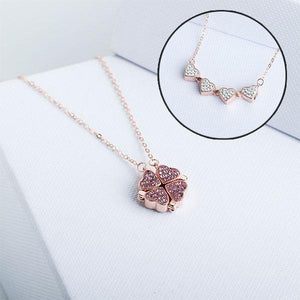 2 in1 Four Leaf Clover/Heart Necklace