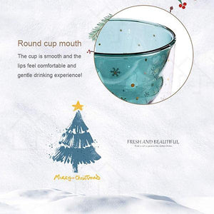 Christmas Tree Double Layer Glass Cup