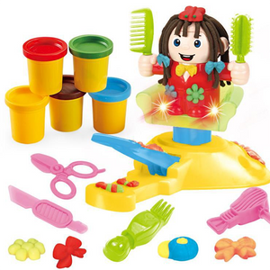 Hairdresser Play Clay Dough Toy Tool Set
