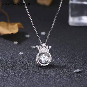 Crown Sterling Silver Clavicle Necklace