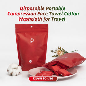 Disposable Portable Compression Face Towel Cotton Washcloth for Travel