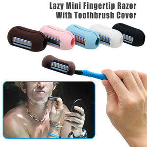 Lazy Mini Fingertip Razor With Toothbrush Cover
