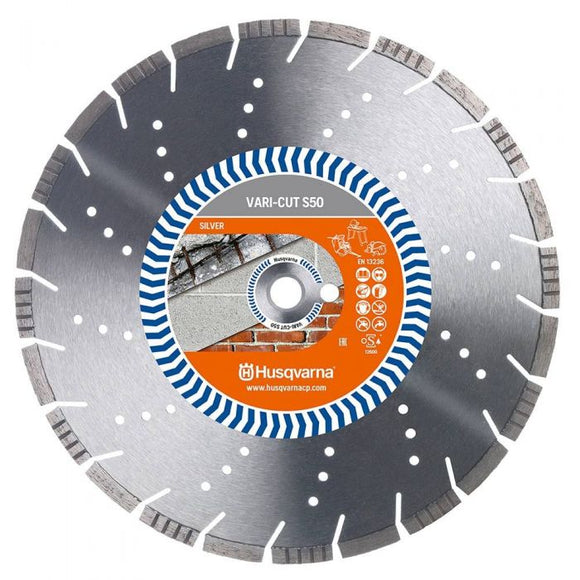 HUSQVARNA 300MM SEGMENTED DIAMOND BLADE FOR GENERAL PURPOSE CUTTING - VARI-CUT S50