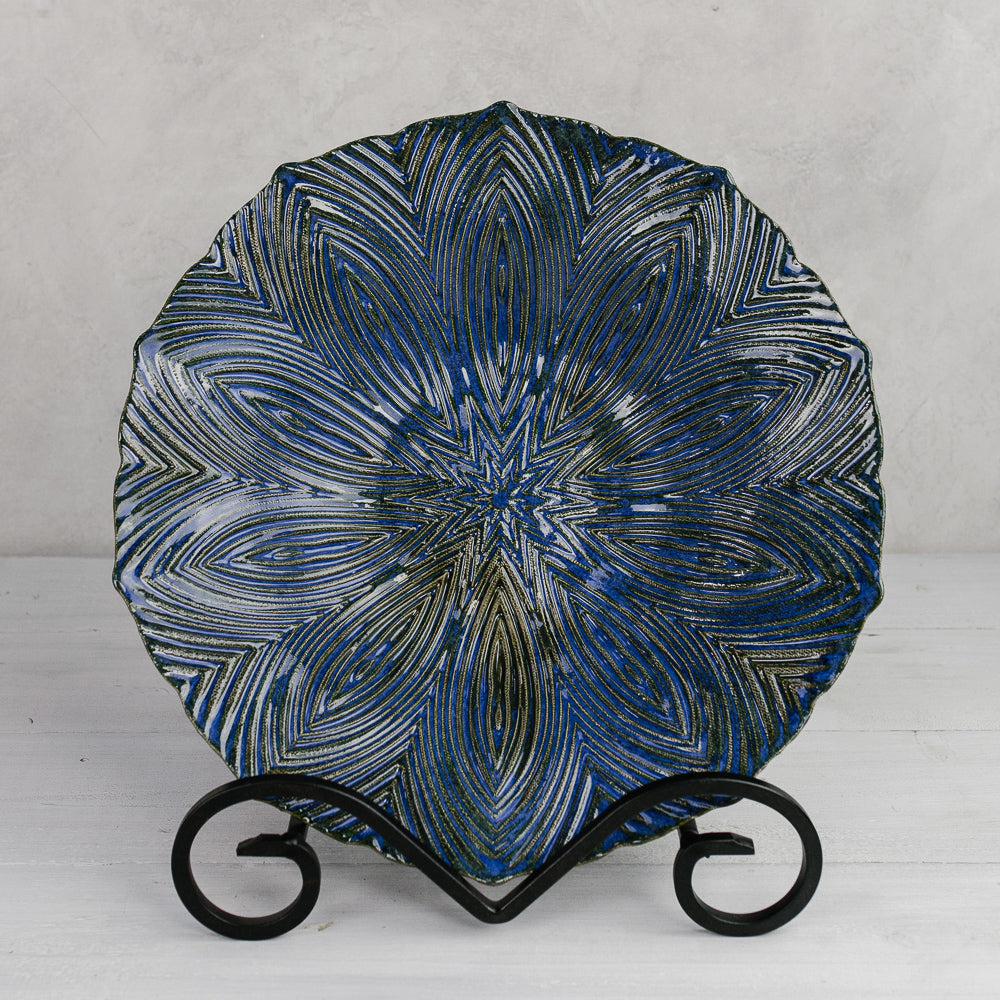 Artistic Blue Ceramic Bowl