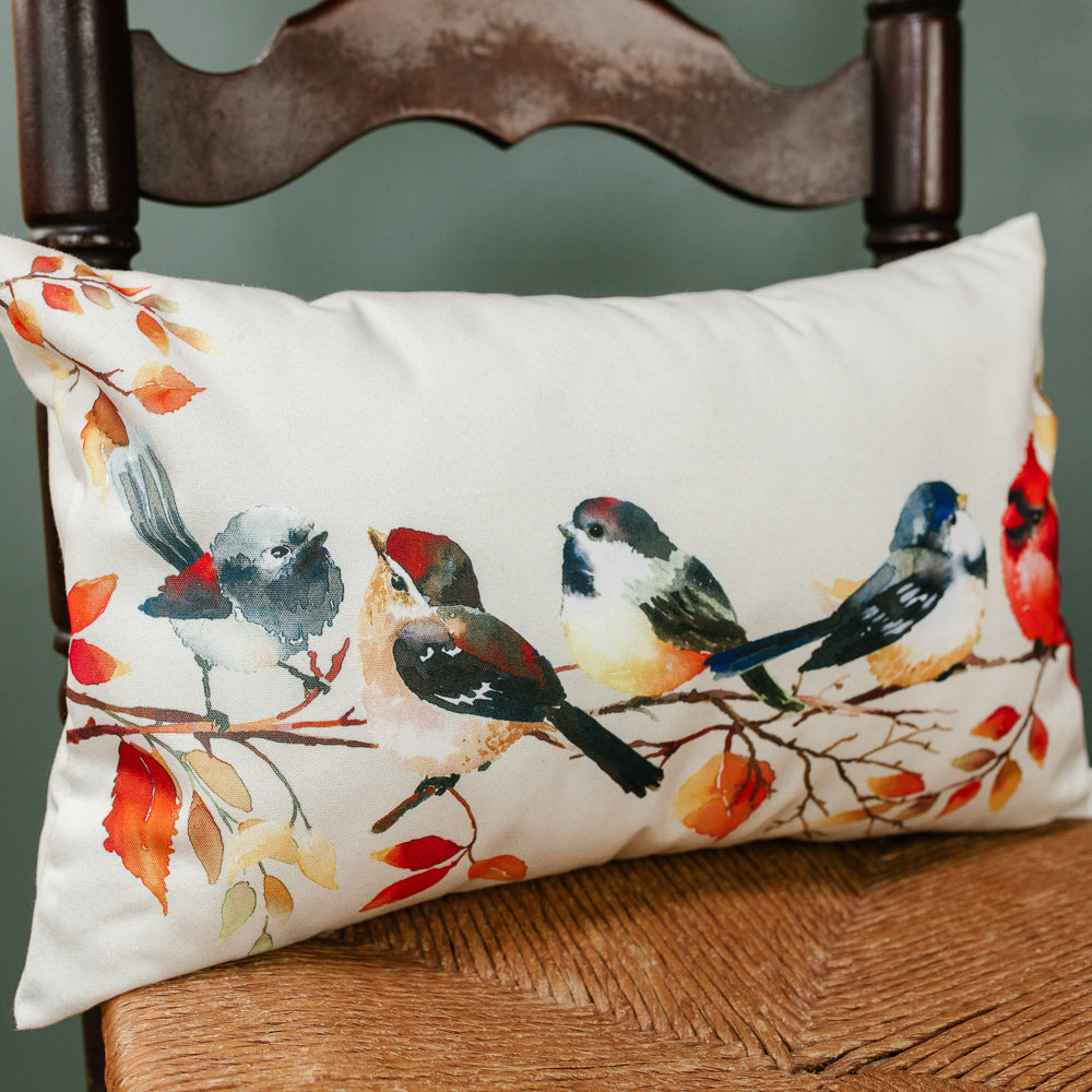 Autumn Bird Pillow