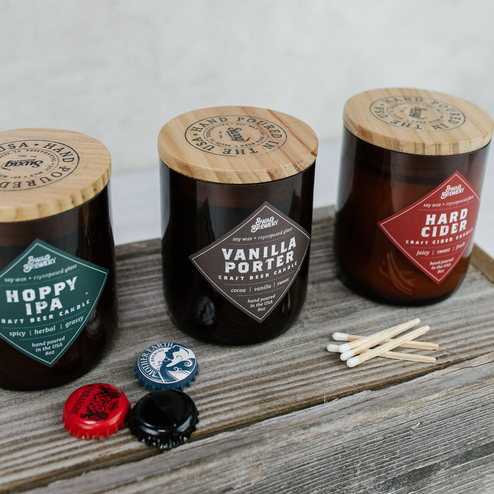 Beer-Inspired Soy Candles