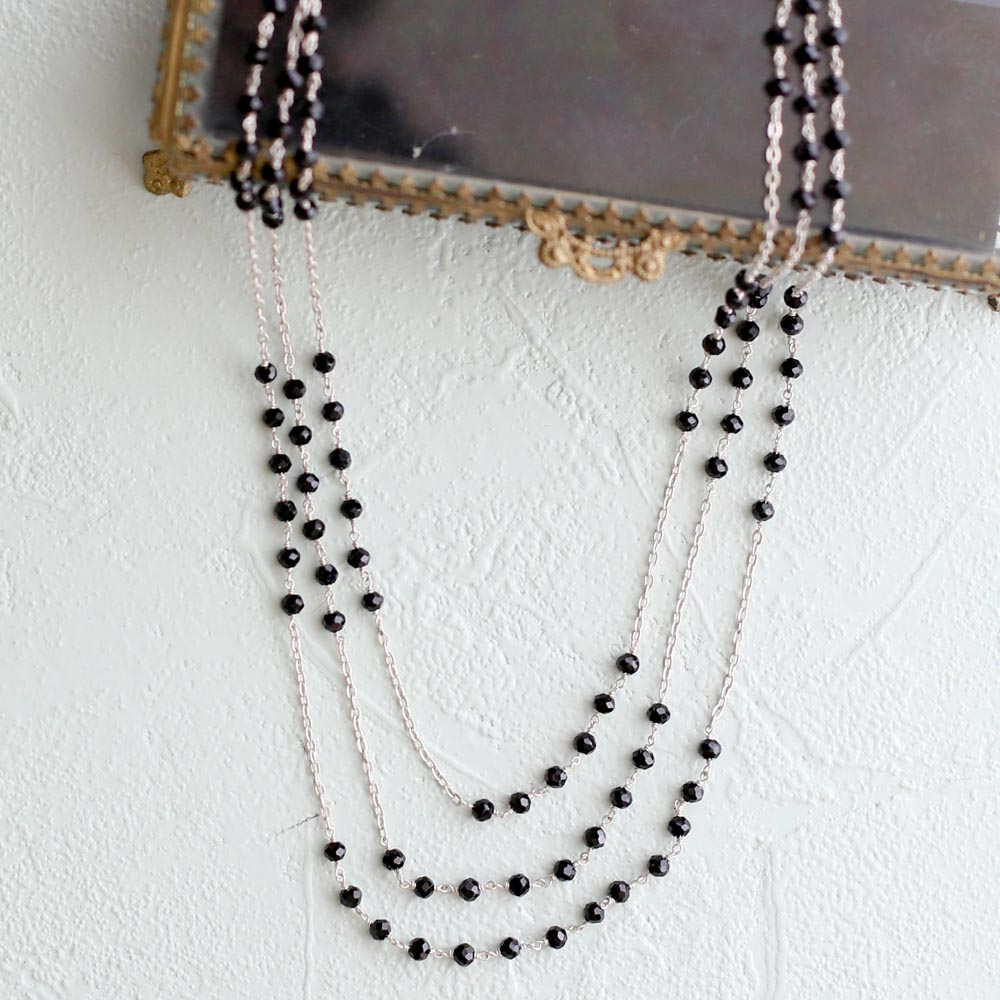 Black Spinel Glimmer Necklace