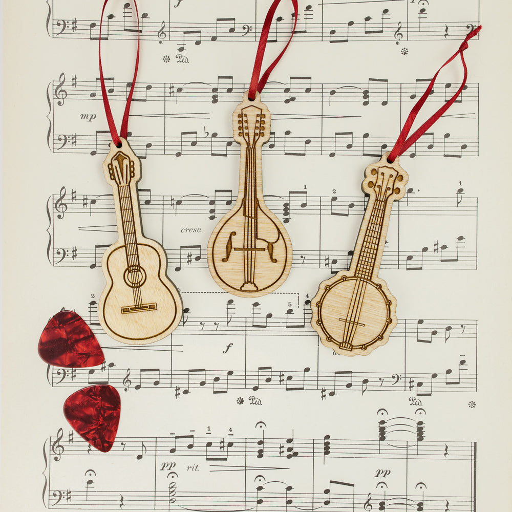 Bluegrass Instrument Ornaments
