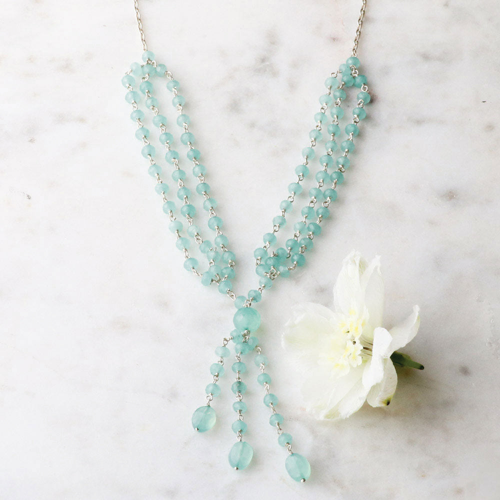 Cascading Chalcedony Necklace