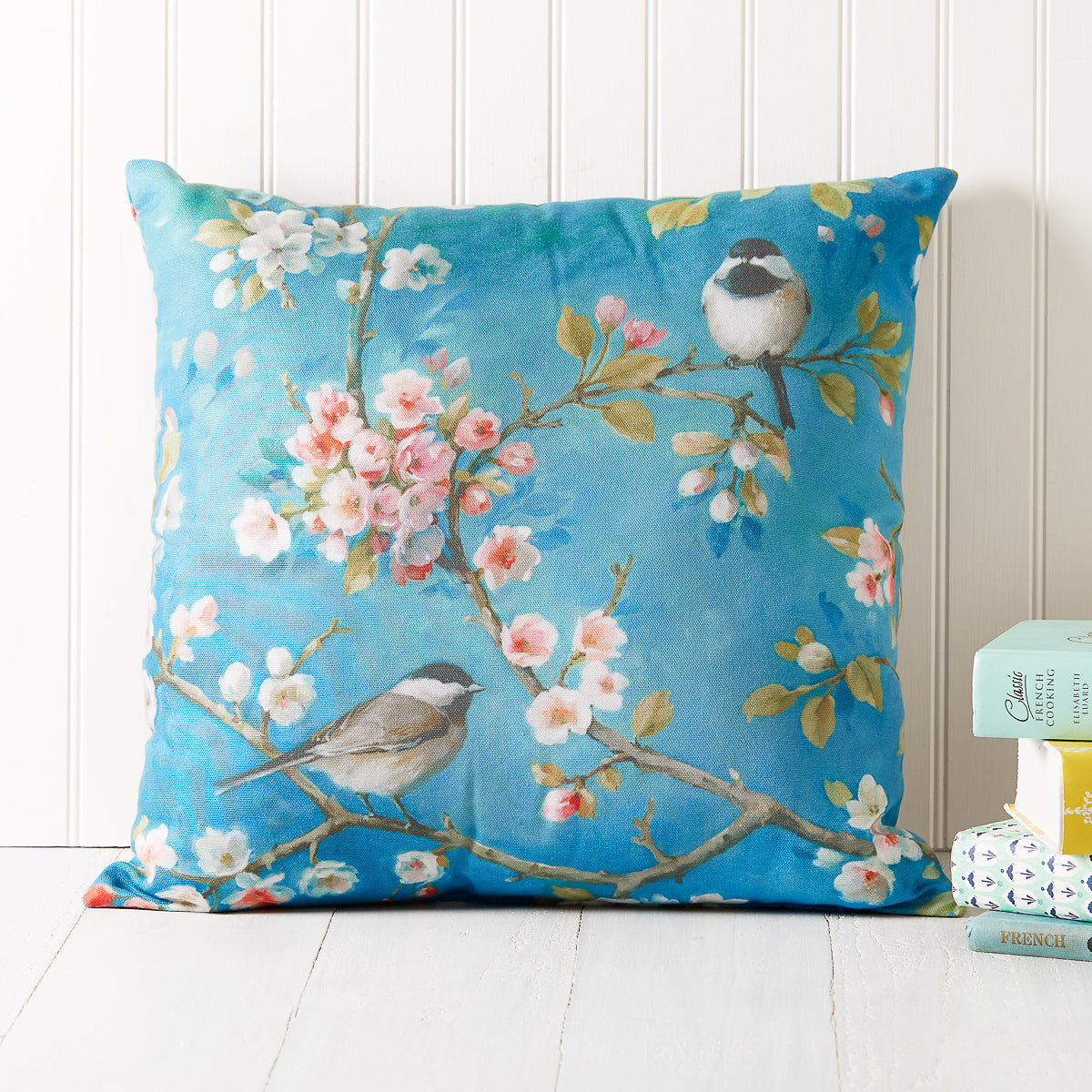 Chickadee Blossom Pillow