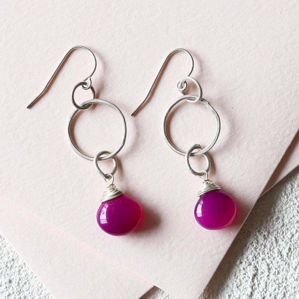 Concentric Amethyst Earrings