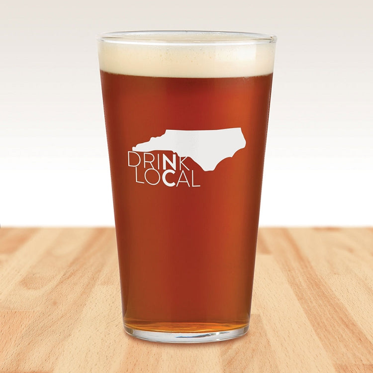 Drink Local NC Pint Glass
