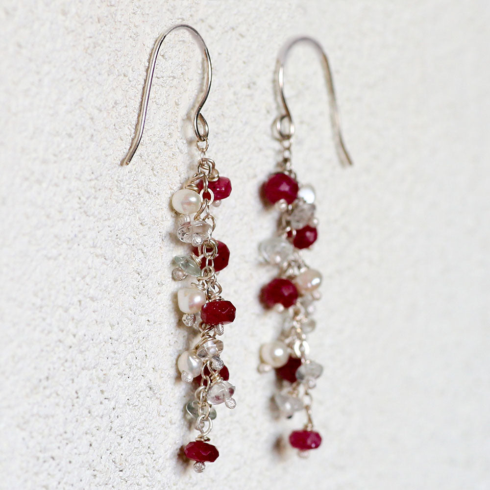 Drops of Ruby Earrings