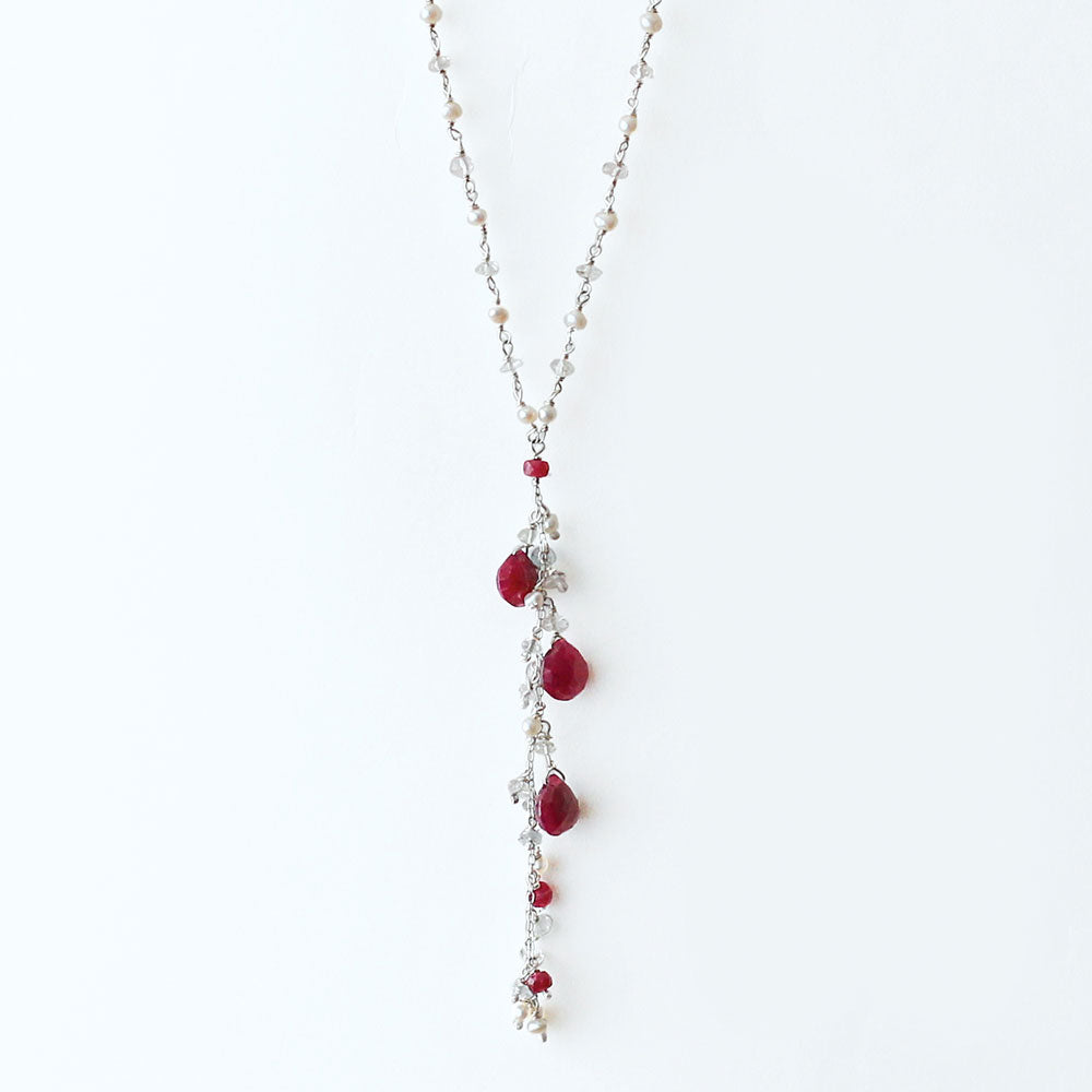 Drops of Ruby Necklace