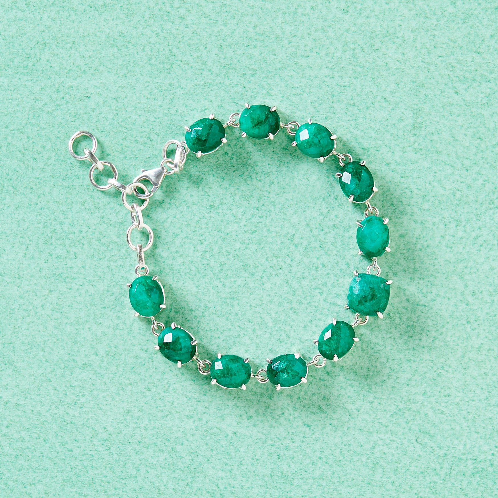 Drops of Emerald Statement Bracelet