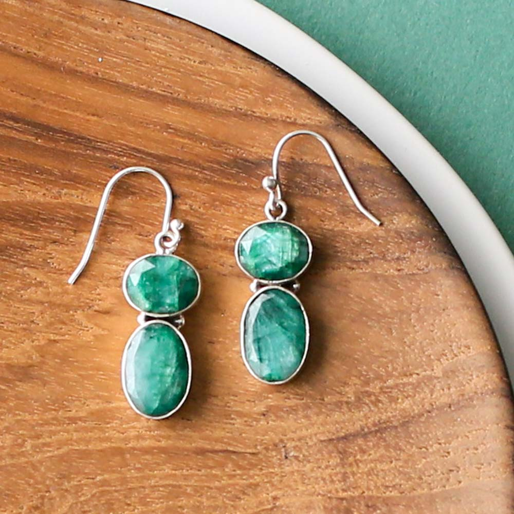 Emerald Statement Earrings