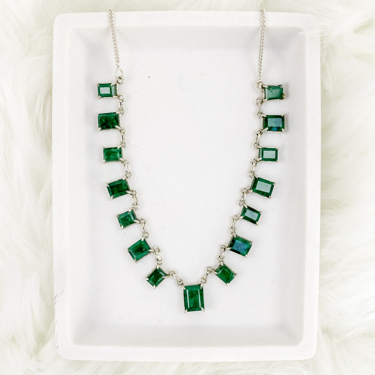 Emerald Cut Statement Necklace