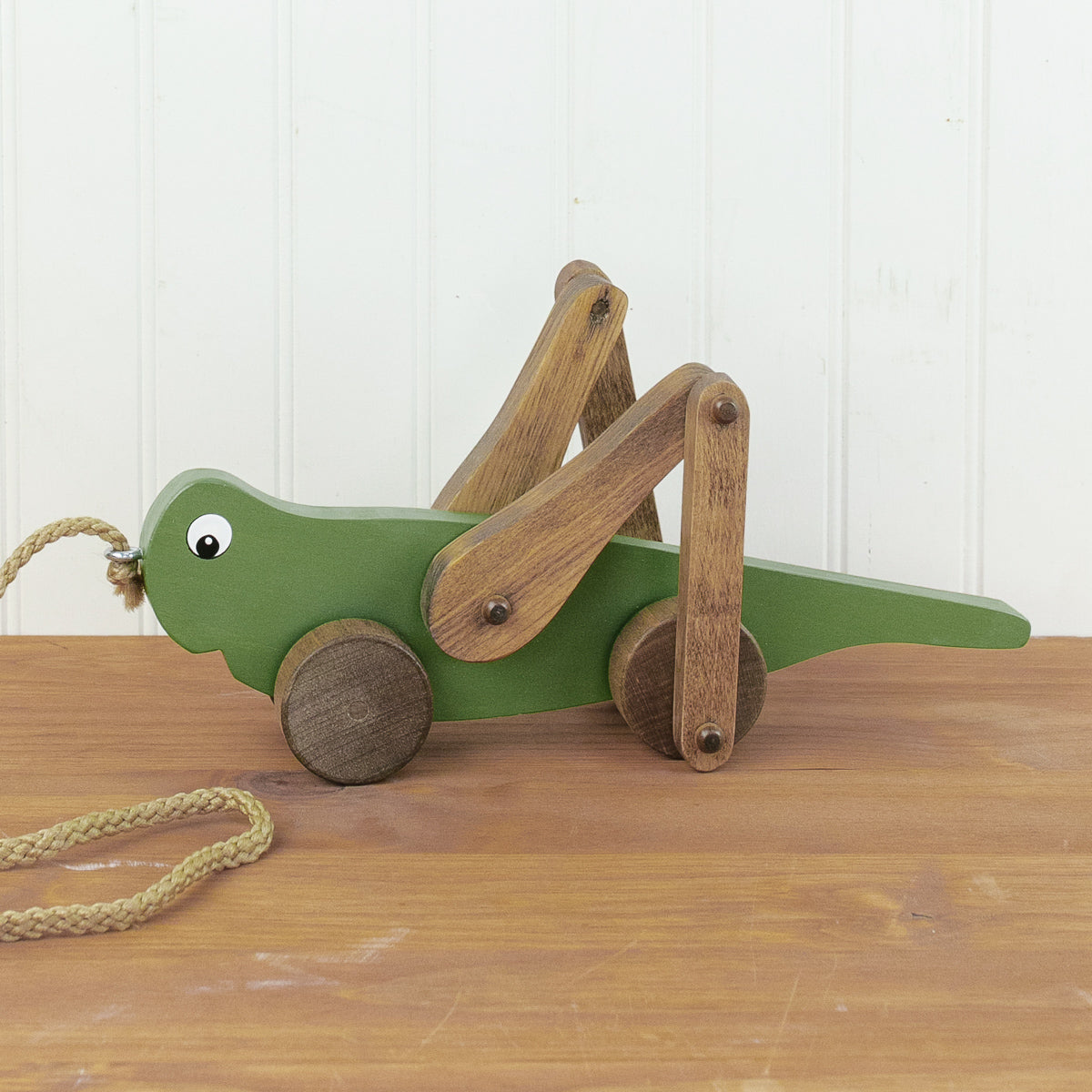 Grasshopper Wooden Pull Toy