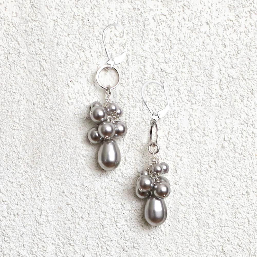 Gray Pearl Earrings