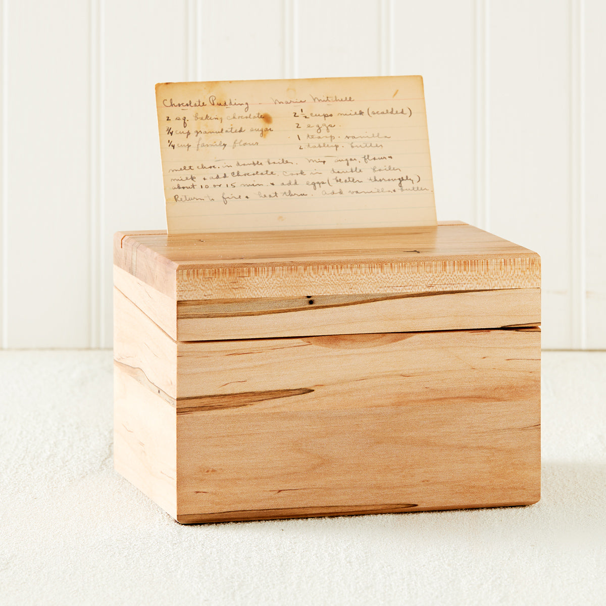 Heirloom Wooden Recipe Box