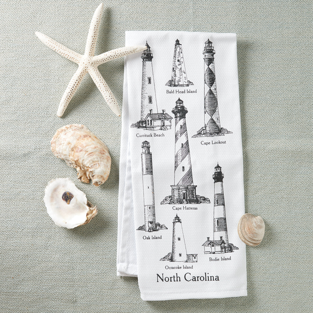 North Carolina Lighthouses Kitchen Towel