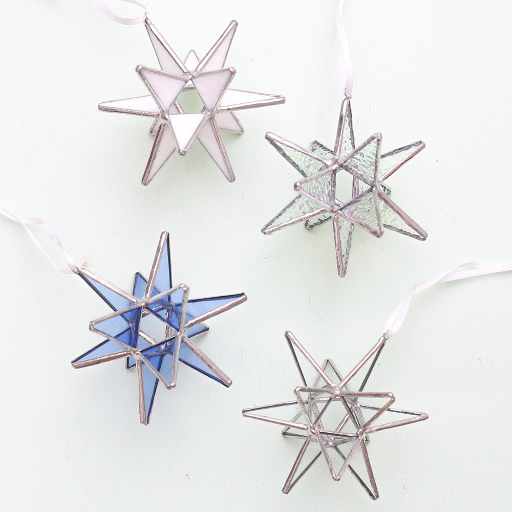Glass Moravian Star Ornament