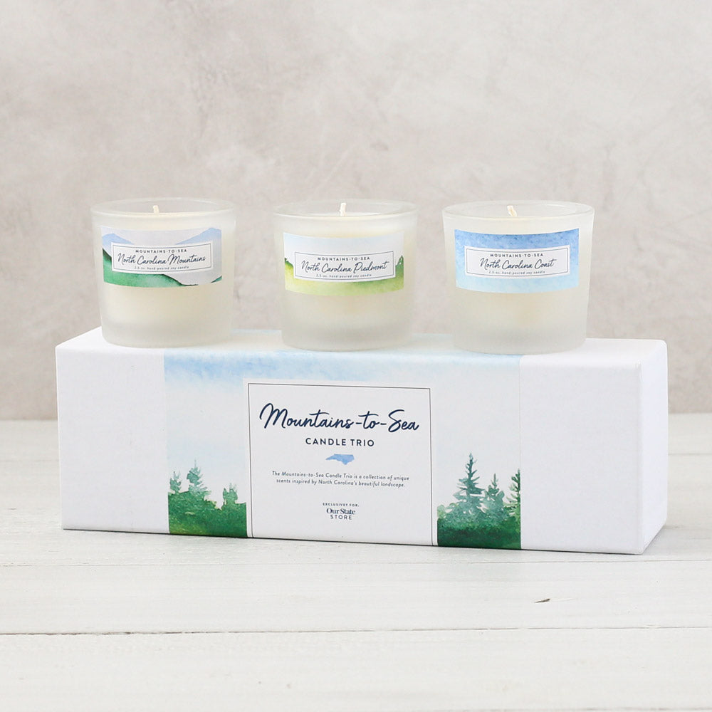 Mountains-to-Sea Candle Trio