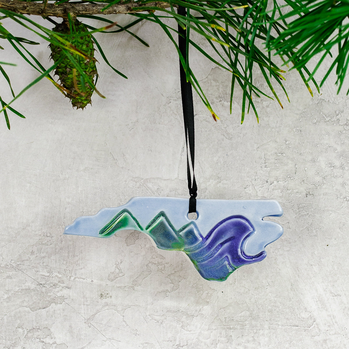 Mountains-to-Coast Pottery Ornament