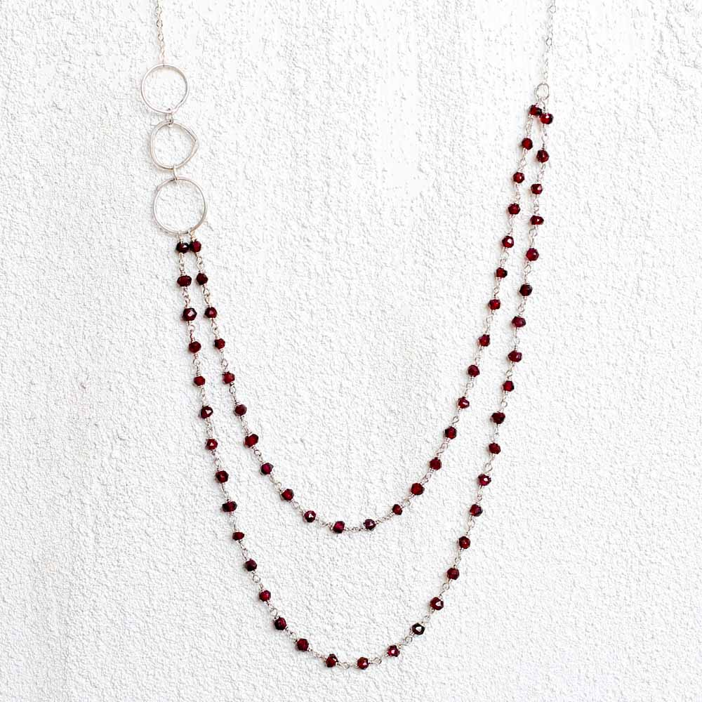 Multi-Strand Garnet Necklace