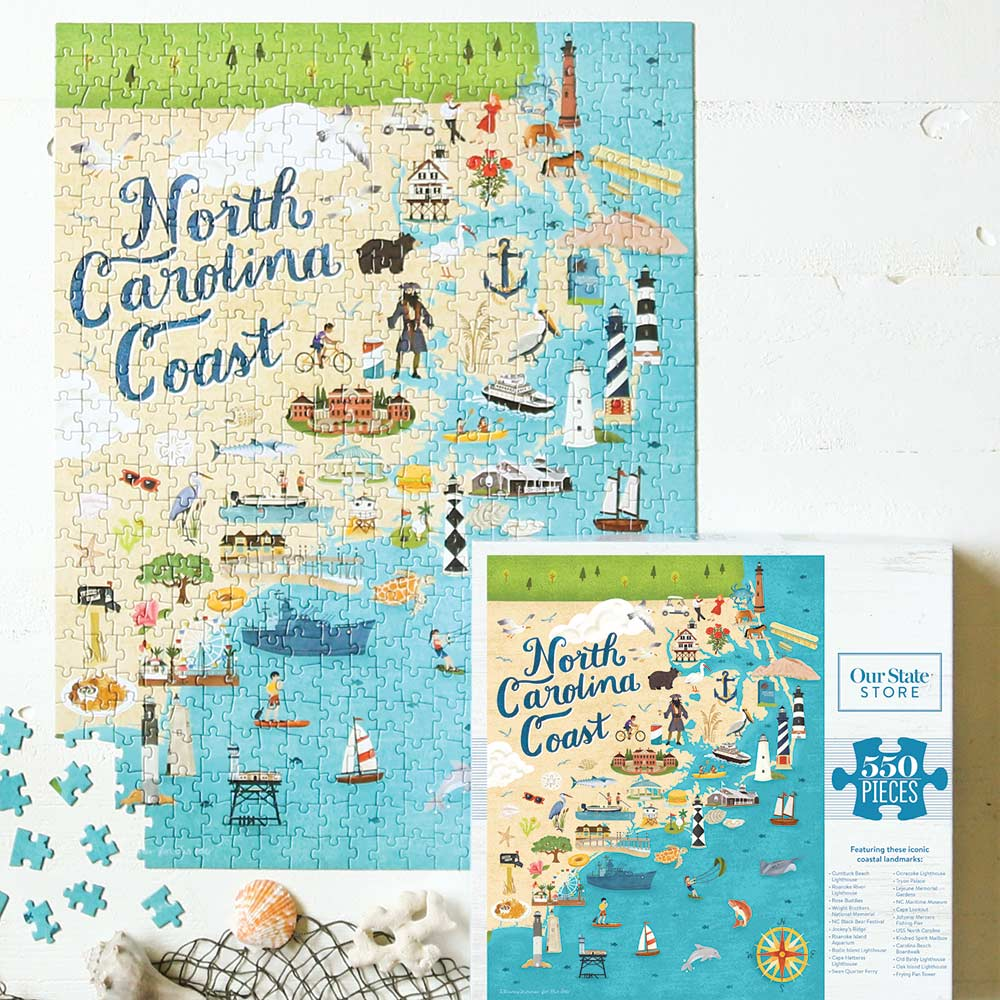 Coastal Icons of North Carolina Jigsaw Puzzle NC Beaches