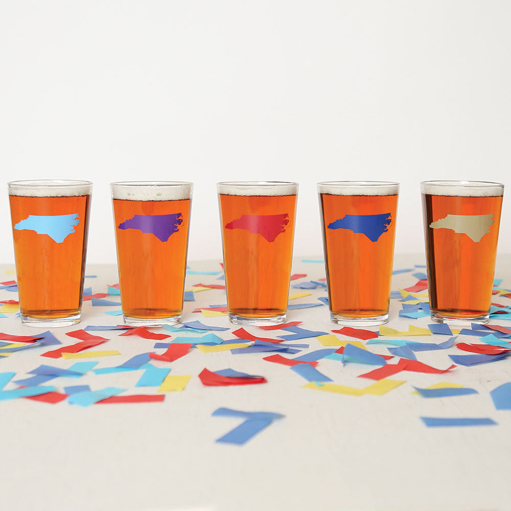 North Carolina Collegiate Pint Glasses