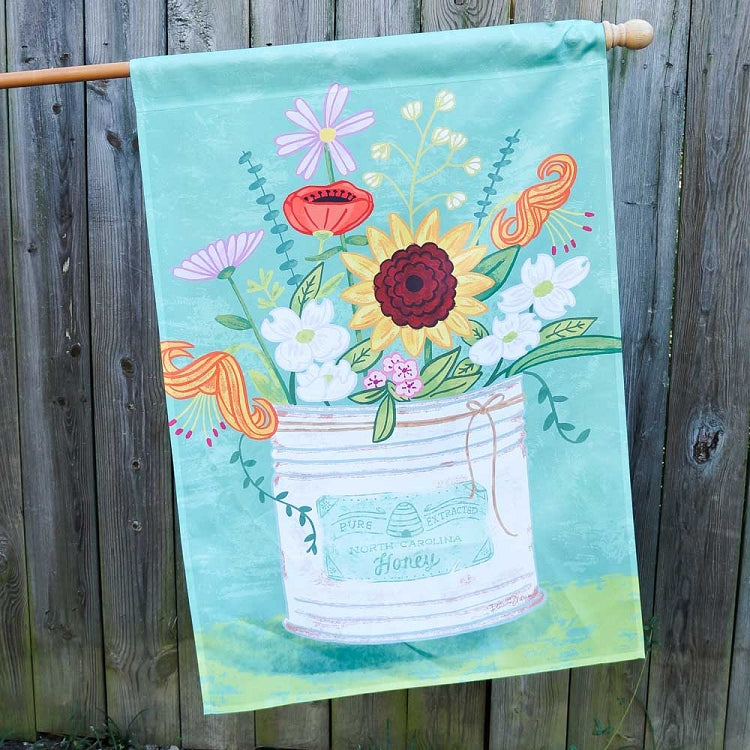 North Carolina Flowers House Flag