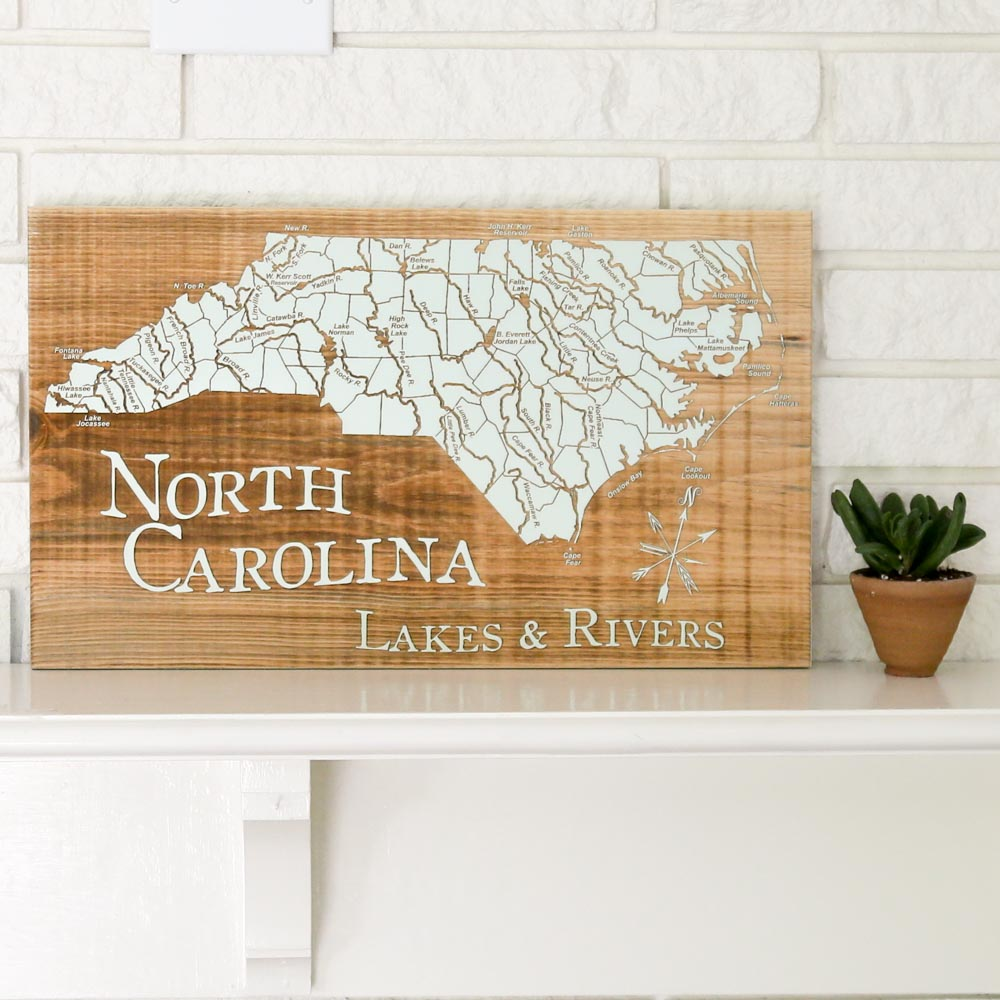 North Carolina Lakes & Rivers Wall Art