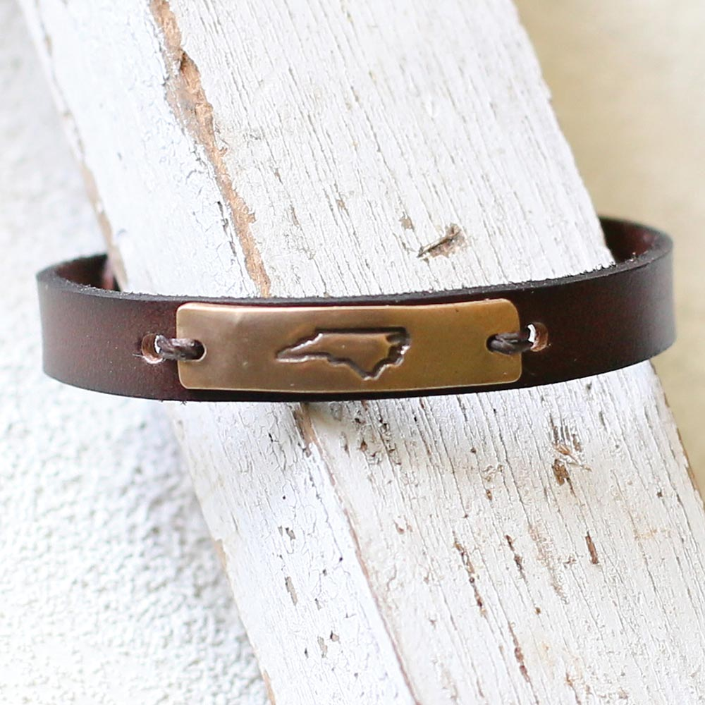 North Carolina Leather Cuff