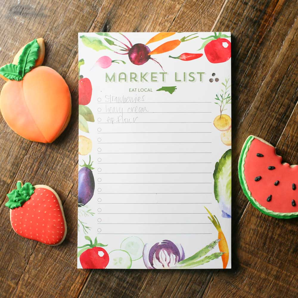 North Carolina Market List Notepad