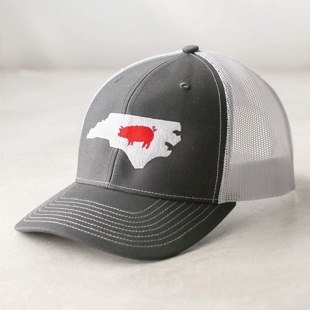 North Carolina State Shape Pig Mesh Cap