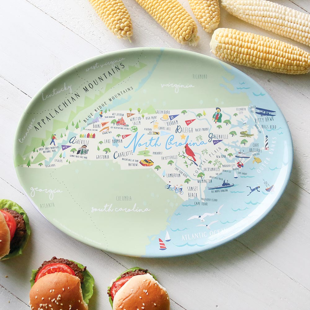 North Carolina Places Platter
