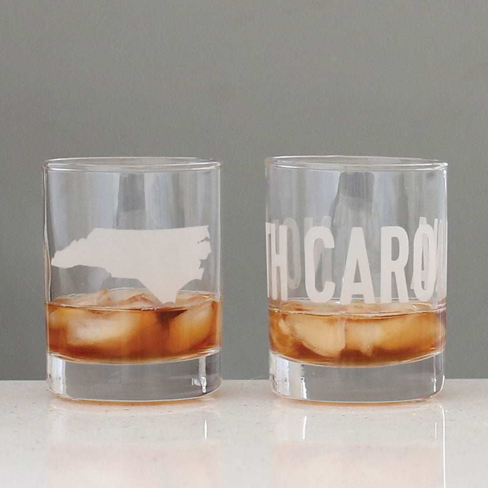 North Carolina Rocks Glass Set