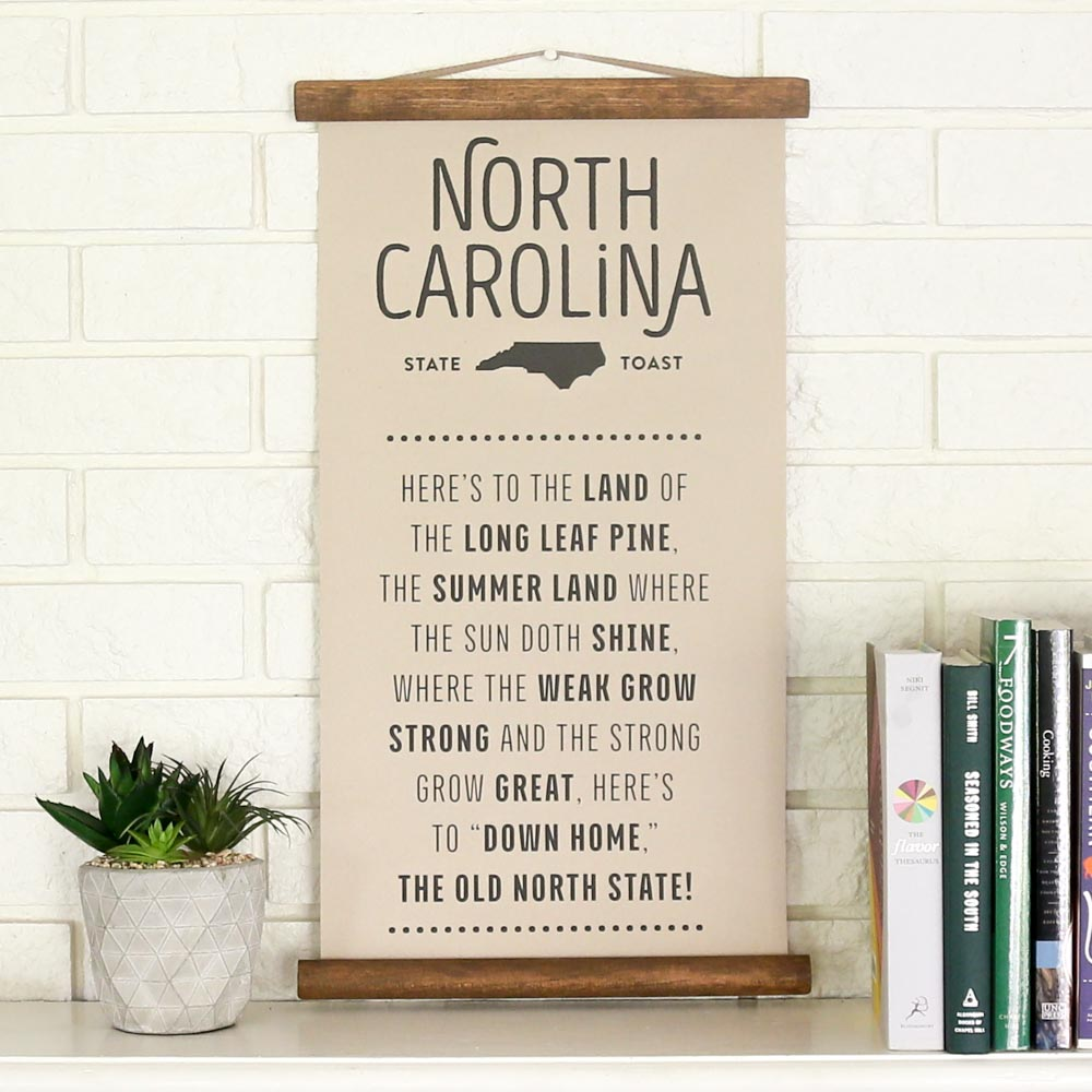 North Carolina State Toast Scroll