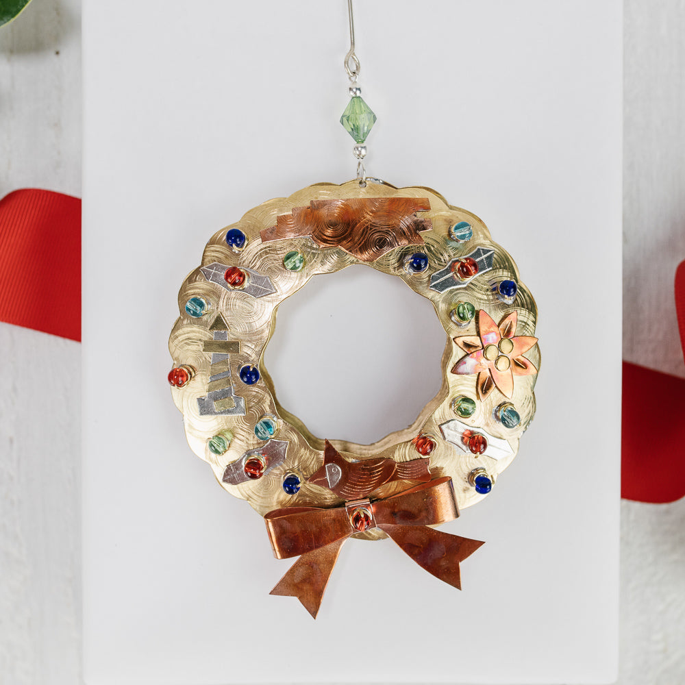 North Carolina Symbols Wreath Ornament