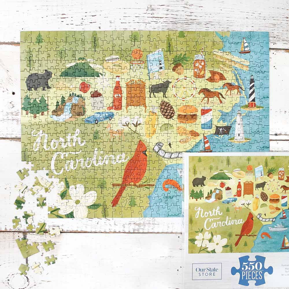 North Carolina Icons Jigsaw Puzzle State Symbols