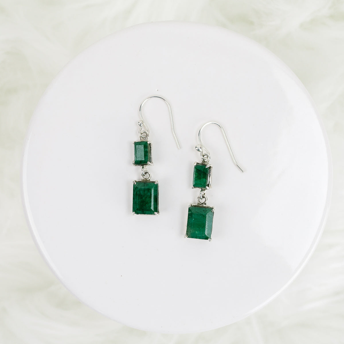 Emerald Cut Statement Earrings