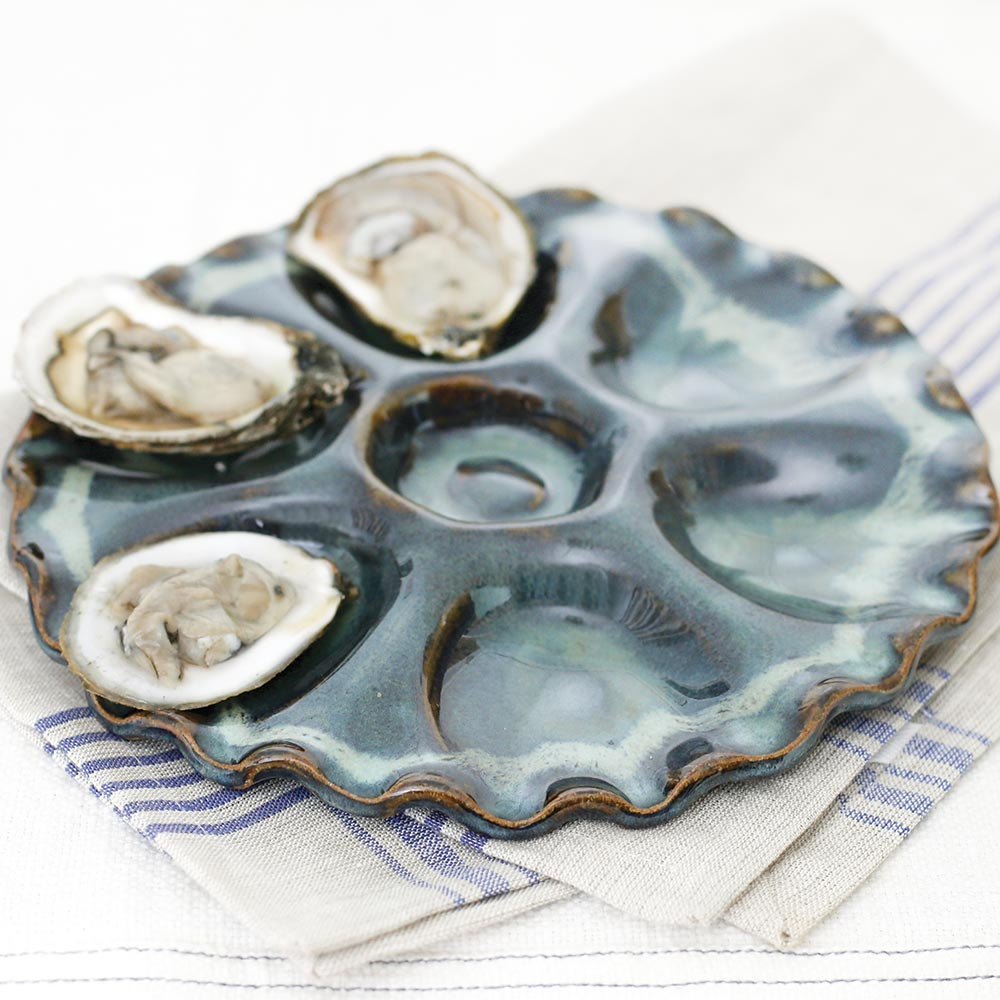 Pottery Oyster Plate