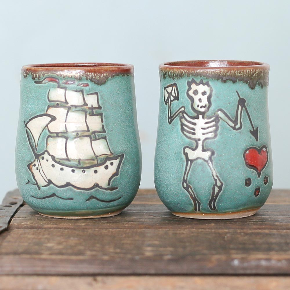 Pottery Pirate Cups