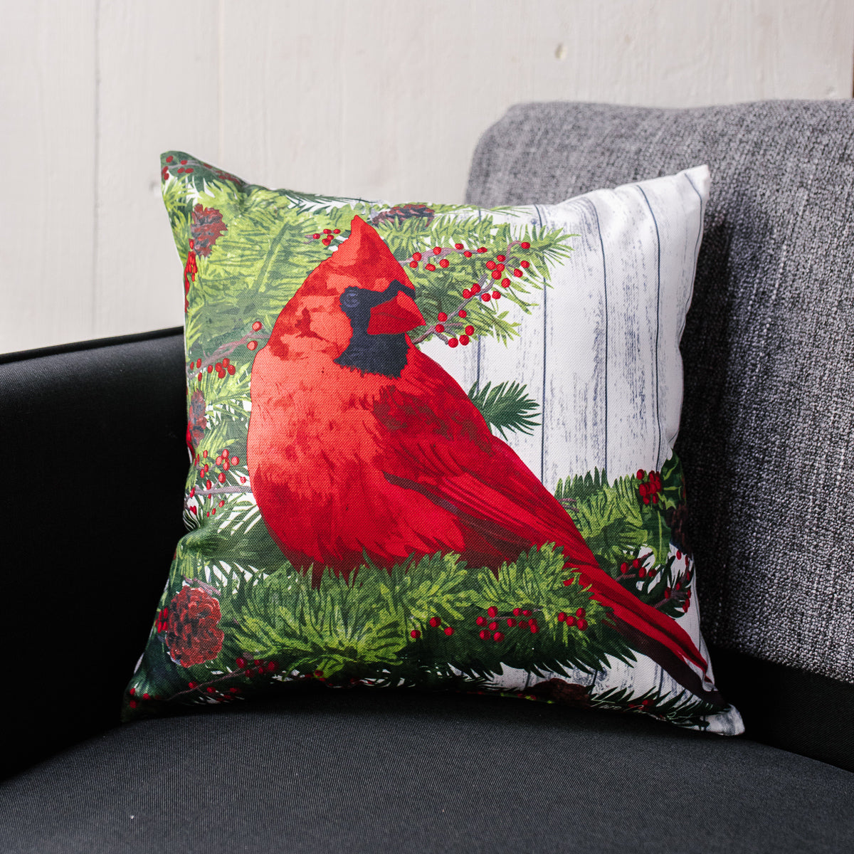 Red Cardinal Indoor/Outdoor Pillow