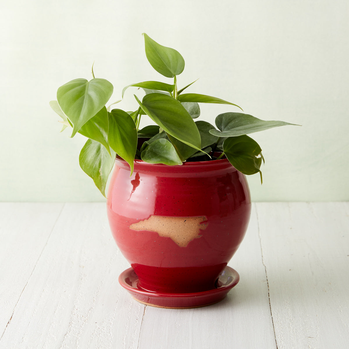 Red North Carolina Pottery Planter
