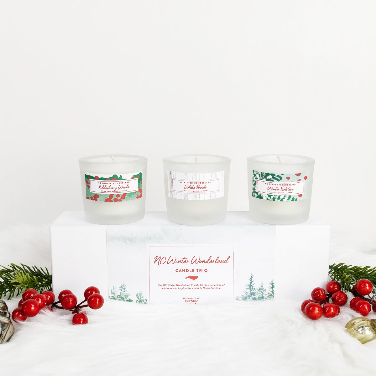 NC Winter Wonderland Candle Trio