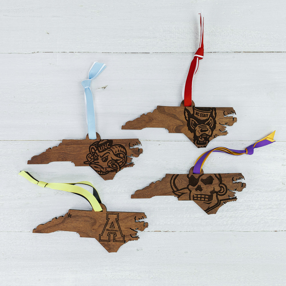 Wooden Collegiate Ornaments